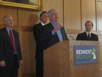 Gov. Snyder's proposed budget would set aside over $100 million for the Healthy Michigan plan
