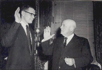 John Dingell being sworn in