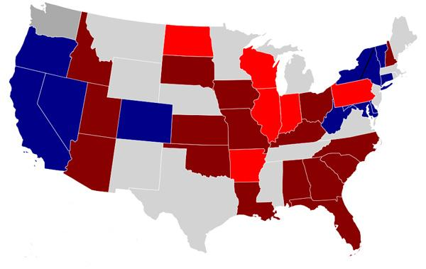 Senate election map 2010
