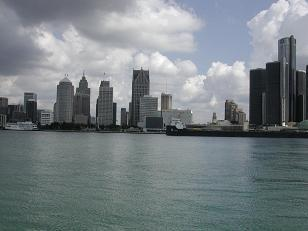 (view of Detroit from Windsor, Ontario)