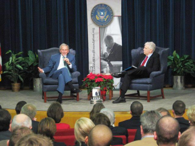 Former president Georgy W. Bush in Grand Rapids
