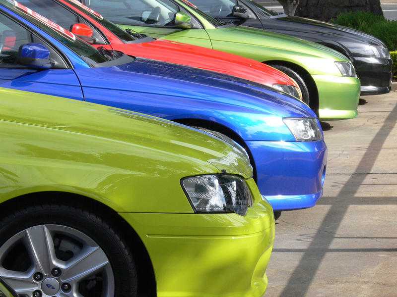 Colorful used cars