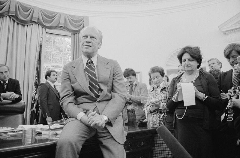 Helen Thomas with President Gerald Ford