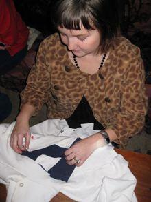 Woman crafting