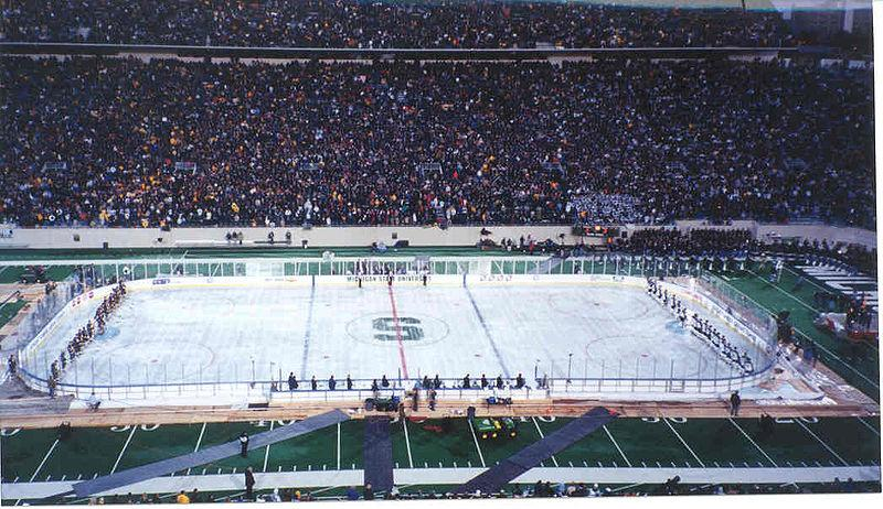 """The Cold War"" ice hockey game at Spartan Stadium"