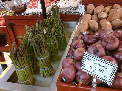 Farm fresh vegetables at Witherbees Market in Flint, Michigan