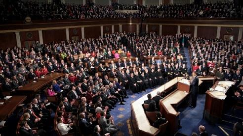 President Obama delivers the State of the Union Address to a joint session of Congress