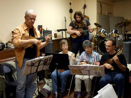 A ukulele jam at Marshall Music in Lansing