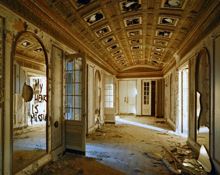 "Photographer Andrew Moore says taking photos of ruins is ""a way of talking about man's life, there's a kind of mortality involved."