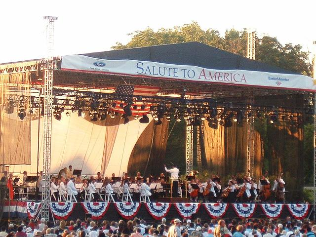 The Detroit Symphony Orchestra playing in Greenfield Village in 2002