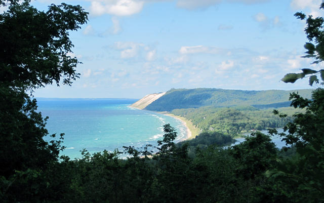 The view from the Empire Bluff hiking trail.