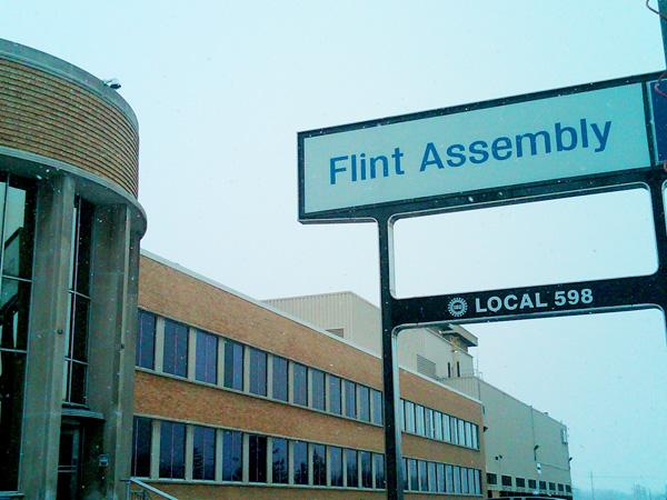 An announcement at Flint Assembly this morning.