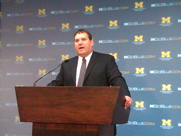 Brady Hoke, the new head coach at the University of Michigan