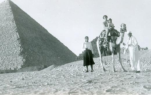 Hollins formed the travel club after learning about West Michigan native, Merze Tate.  Here Merze Tate travels in Egypt.