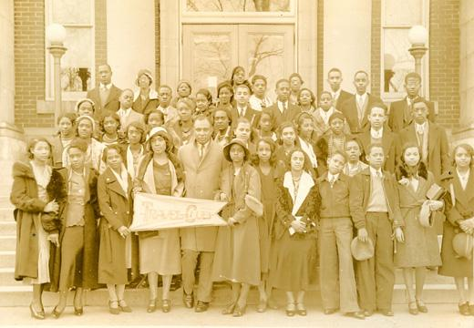 Merze Tate formed her travel club in the 1940s.  She was the first African American to graduate from Oxford in 1932.