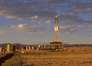 A natural gas drilling rig in Wyoming. Regulators in Michigan say they're ready to handle more of these drilling rigs.