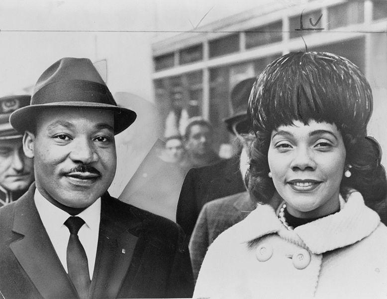 Martin Luther King, Jr. and Coretta Scott King in 1964.