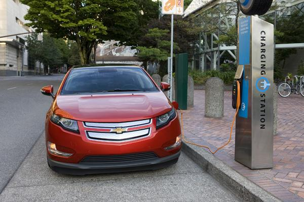 "The Chevy Volt received a charge with today's ""Car of the Year"" award."