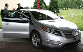 "The Chevy Volt wins ""Car of the Year"""