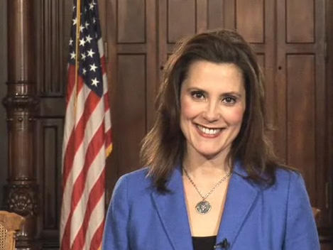 Gretchen Whitmer, Senate Democratic Leader delivers the Democratic response to the State of the State speech