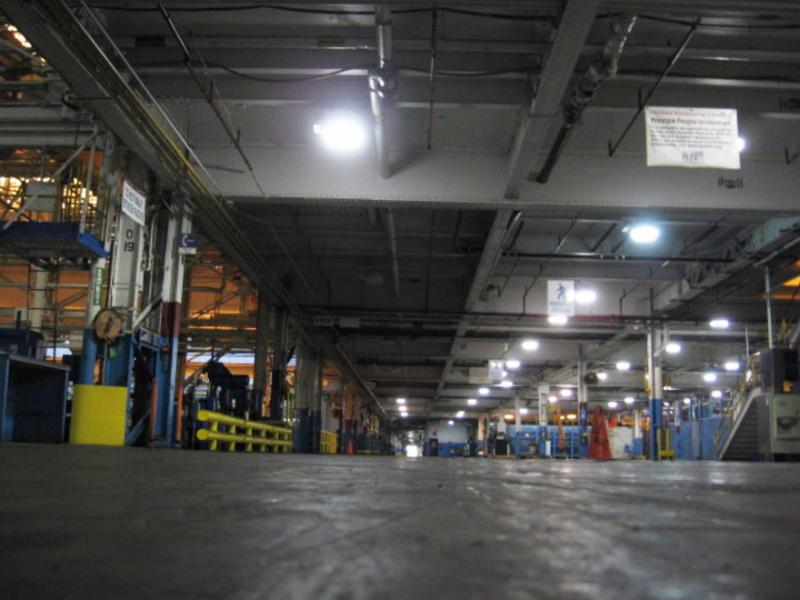 Inside the former GM plant in Wyoming, Michigan