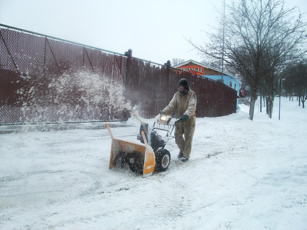 Digging out in a 2011 snowstorm.