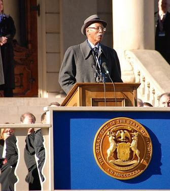 Mayor Dave Bing earlier this year in Lansing as he attends Governor Rick Snyder's inauguration