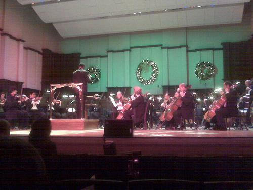 The DSO performas at a 2008 holiday performance.