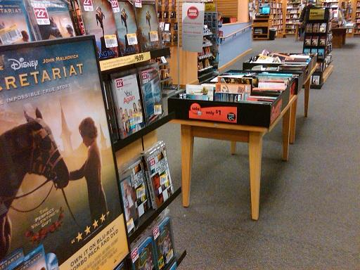A look inside a Borders Bookstore