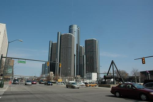 The Renaissance Center is home to GM one of the worl's largets auto manufactures