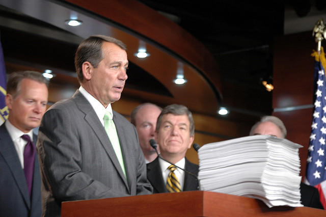 In 2009, then Ohio Representative John Boehner spoke out against the health care reform bill. Now courts are weighing in.