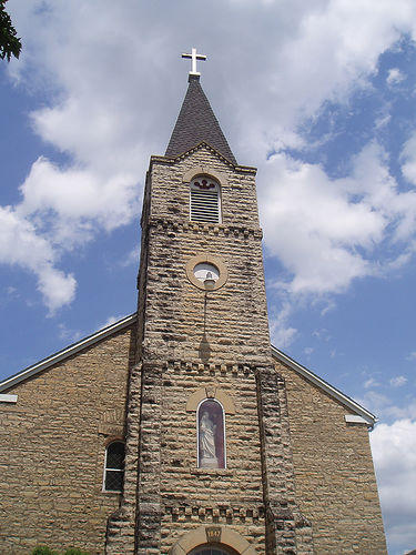 A brick church