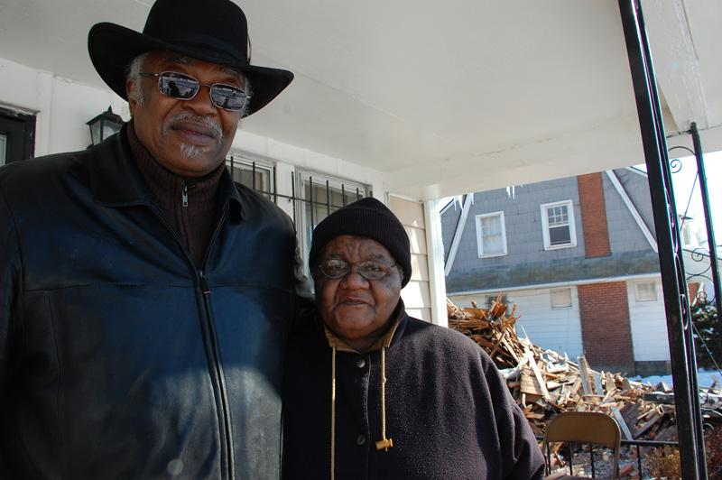 Neighbors David Dudley and Inez Frazier in Detroit's Grandmont Division. They hope the mayor can help turn their neighborhood around.