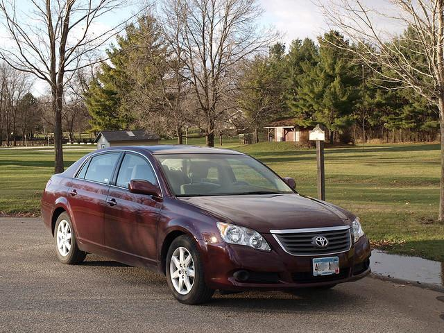 A 2009 Toyota Avalon - one of the cars involved in the Toyota gas pedal recall