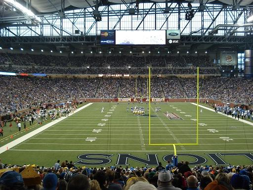 Detroit Lions play Green Bay Packers at Ford Field (photo taken on November 22, 2007)