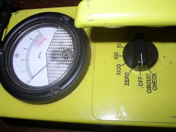 Hand held Civil Defense Geiger counter