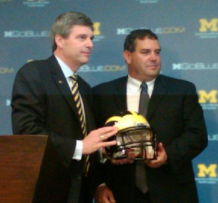 Dave Brandon, for better or worse, was tied to his hire as Michigan football head coach, Brady Hoke.