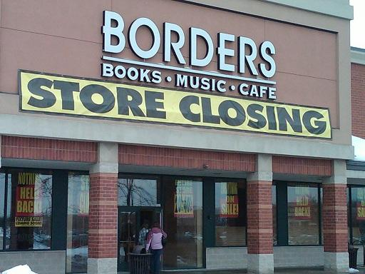 "Book Store with a ""store closing"" banner"