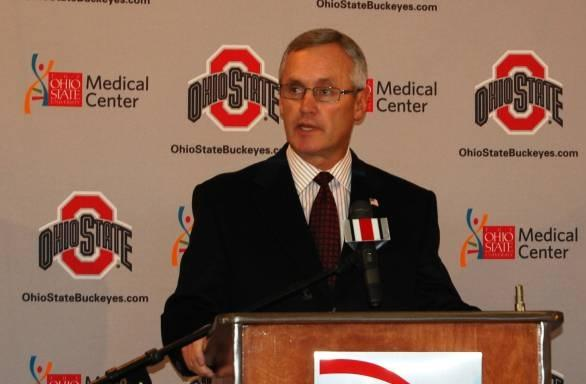 Ohio State University head football coach Jim Tressel