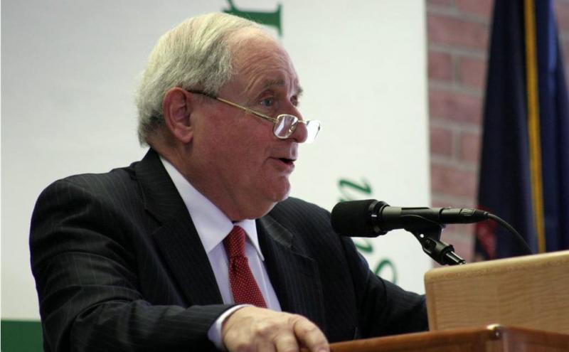 Senator Carl Levin speaking in Grand Rapids earlier this year.