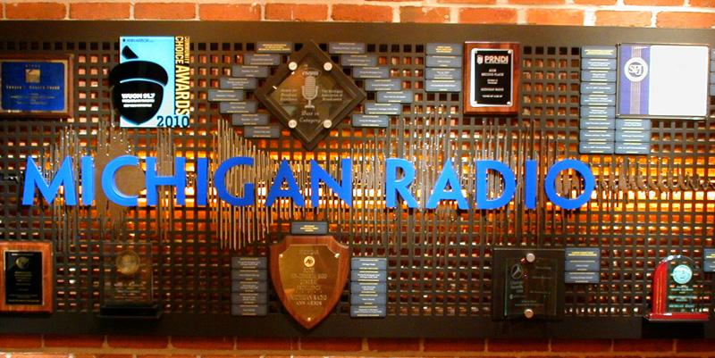 Some of Michigan Radio's awards