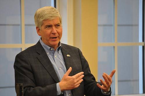 Governor Rick Snyder continues to defend his budget proposal