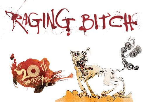 Not sold in Michigan. The label on Flying Dog's 20th Anniversary beer. Artwork by Ralph Steadman