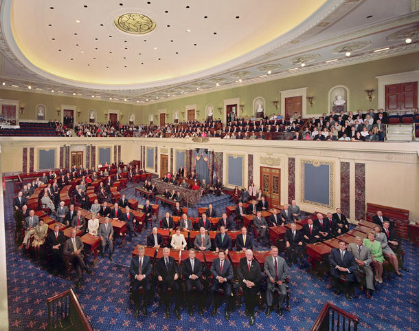 A photo in the U.S. Senate in 2007. Randy Heckman hopes to be in a similar photograph in 2013.