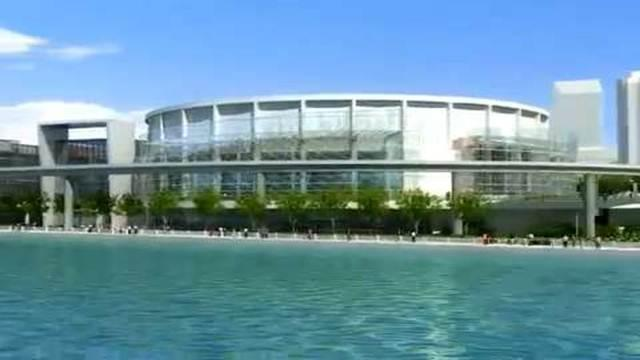 Screen shot from a video showing plans for renovating the Cobo Center in downtown Detroit