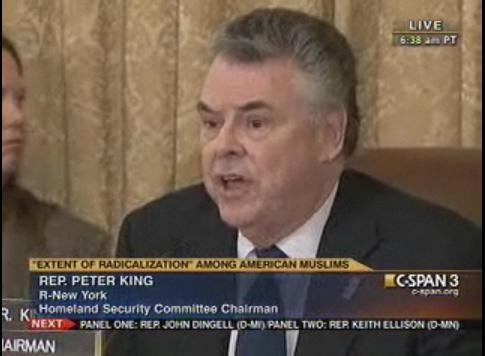 Peter King, R-N.Y. is chairing today's committee