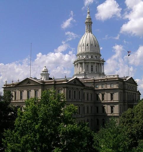 The state Capitol in Lansing.