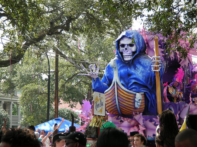 The River Styx float in the Rex parade during Mardi Gras 2008.