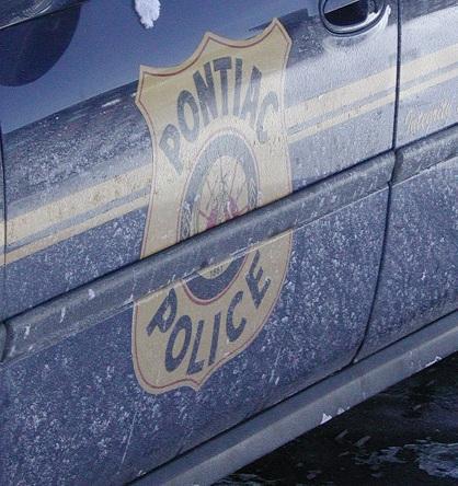 A Pontiac police car