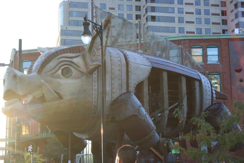 """The Steam Pig"" won 9th place in ArtPrize 2010."